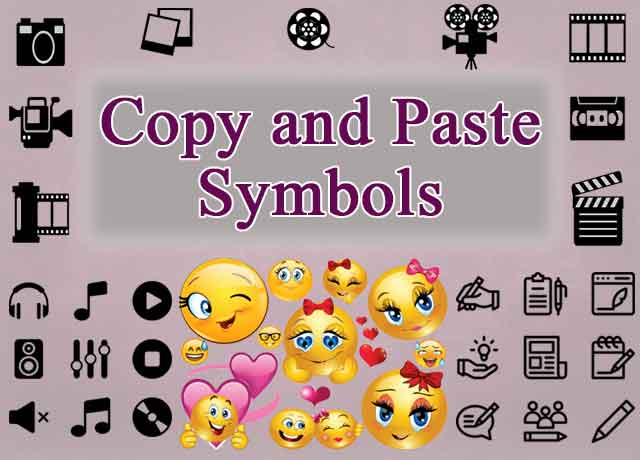 Emojis copy and paste symbols